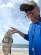 "Nice black drum on soft plastics from the same hole ""the morning after"""